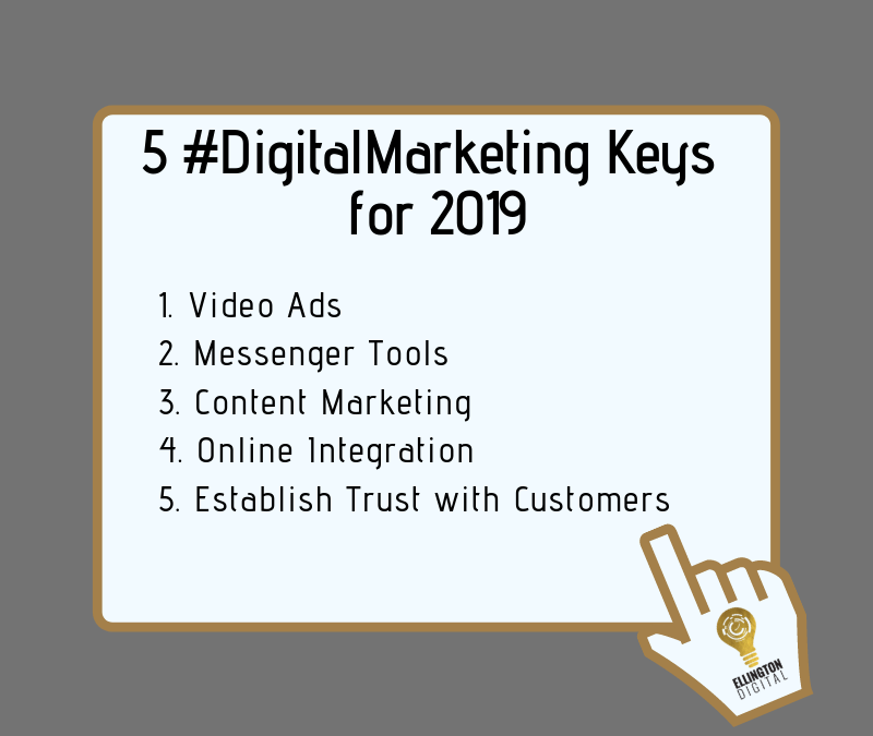 5 digital marketing trends businesses should implement in 2019
